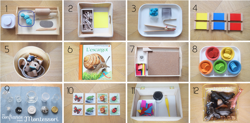 12 Propositions De Materiel Montessori Pour Un Enfant De 2 A