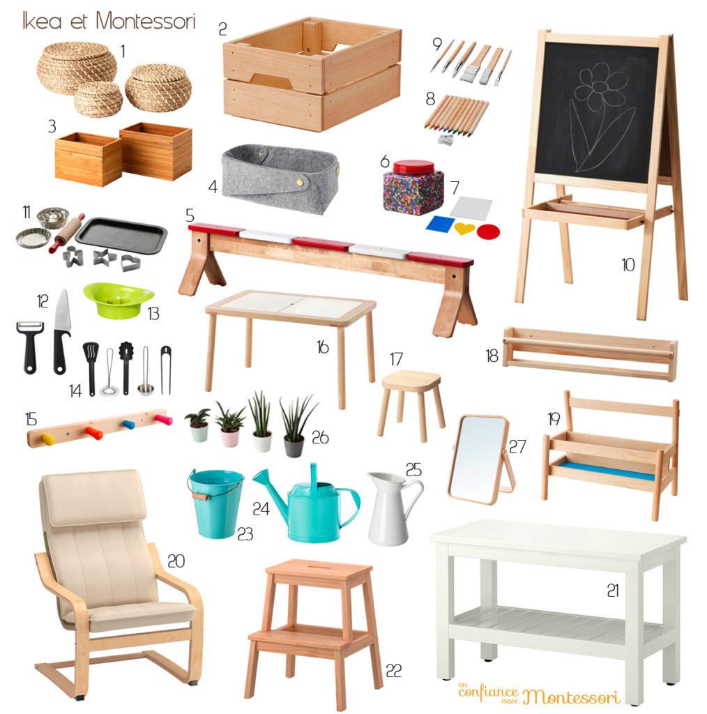 Mes Trouvailles Ikea Compatibles Avec Une Ambiance Montessori A La Maison