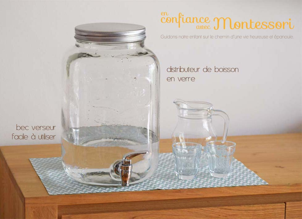 Point d'eau d'eau en verre