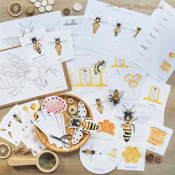 Pack sur le thème de l'abeille